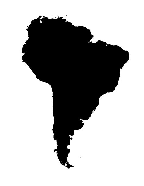 usa map silhouette blank map of south america template
