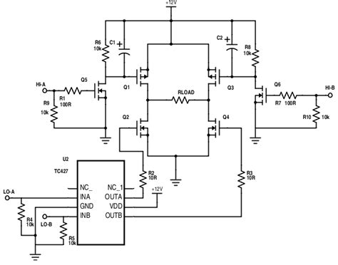 transistor mosfet pwm low cost h bridge circuit for pwm electrical engineering stack exchange