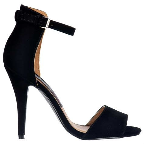 high strappy heels shoekandi high back strappy sandals peep toe mid heels