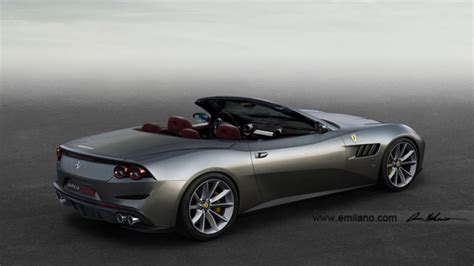 ff convertible rendering gtc4 lusso cabriolet 2017 by evren