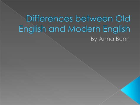 what is the difference between modern and contemporary differences between old english and modern english