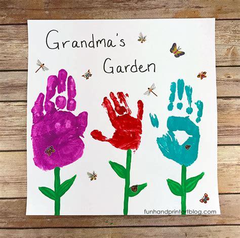 grandparents day crafts for to make s garden handprint keepsake so pretty