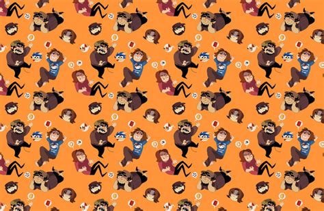 iphone wallpaper game grumps game grumps pattern art print by siins society6