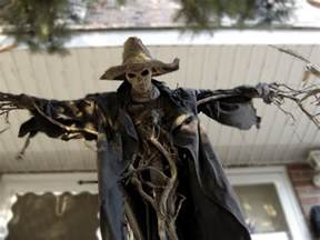 halloween scarecrow prop pumpkinrot yard haunt my inspiration for fencepost