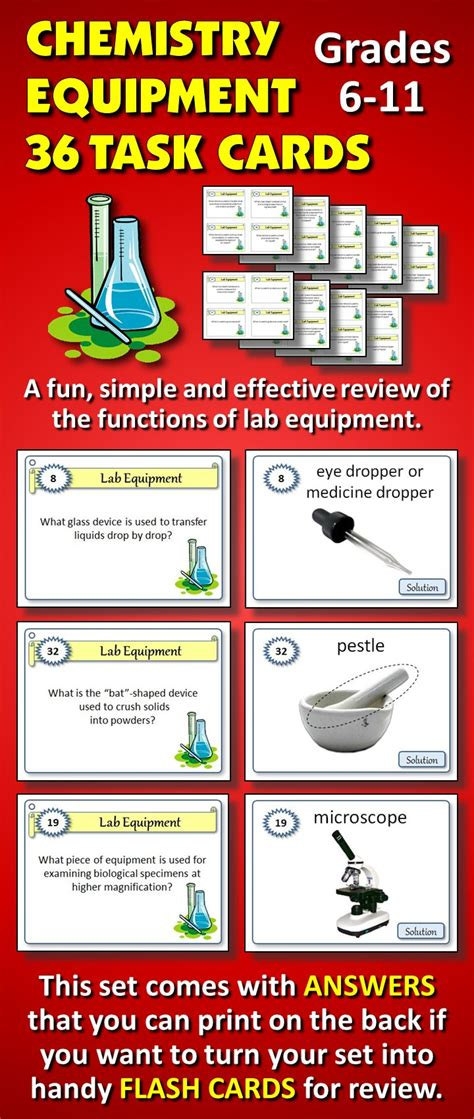 science task card template 25 best ideas about lab equipment on