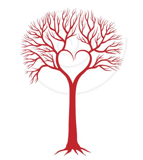 free printable tree wall art red wedding tree with heart wedding invitation wedding