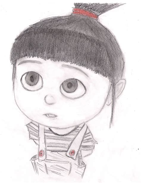 how to draw agnes despicable me