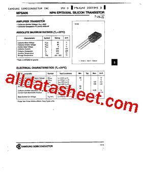 transistor mpsa06 datasheet mpsa06 datasheet pdf samsung semiconductor