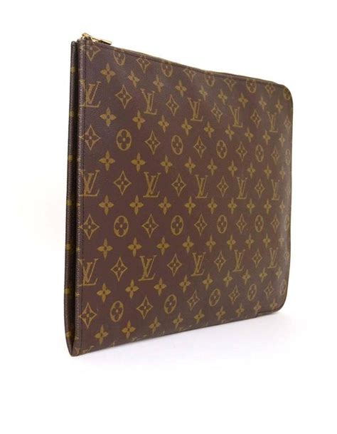 louis vuitton monogram portfolio clutch  stdibs