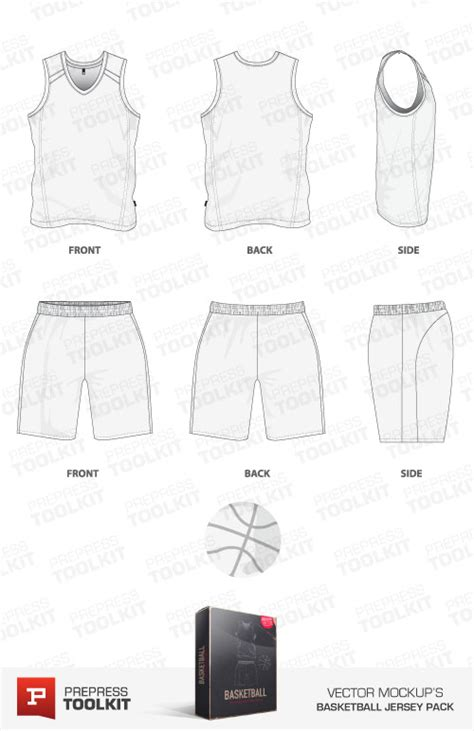 Basketball Jersey And Basketball Uniform Vector Mockup Template Pack Basketball Jersey Template