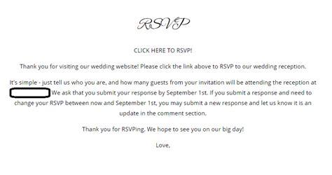 wedding website rsvp page wording critique my rsvp weddingbee
