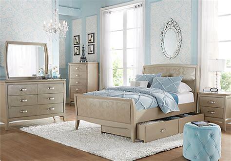 belle noir champagne  pc full bedroom bedroom sets