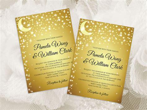 Moon Invitation Card Template by Diy Printable Wedding Invitation Card Template 2455594