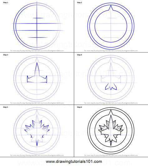 coloring pages winnipeg jets how to draw winnipeg jets logo printable step by step