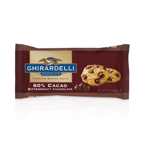 ghirardelli chocolate ghirardelli bittersweet 60 cacao baking chips 10 oz