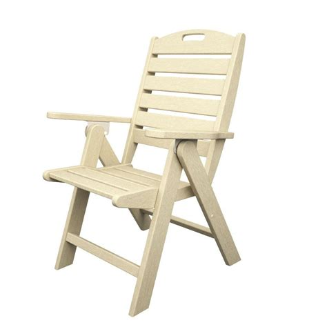 plastic outdoor chair polywood nautical highback sand plastic outdoor patio