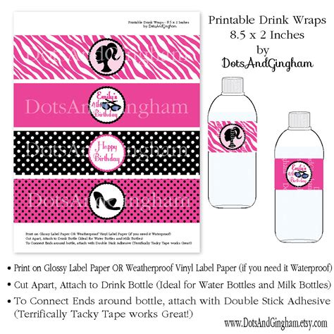 My Bottle Free Box by Printable Water Bottle Label Drink By