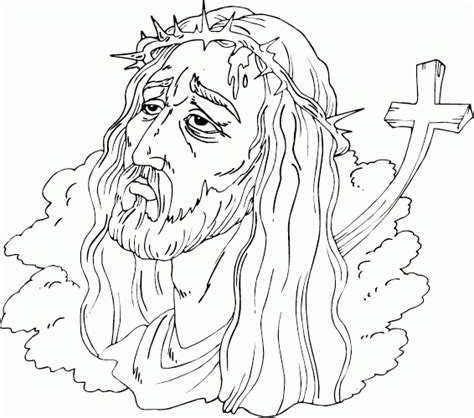 coloring pages jesus crown of thorns crown of thorns coloring page coloring