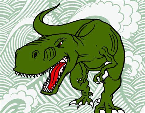 Dibujo de t rex pintado por Usuar en Dibujos.net el día 14
