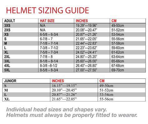 motocross helmet sizing motorcycle helmet size chart helmet size chart