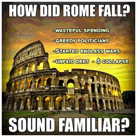 Rome Memes - meme compares how rome fell with the 2016 usa