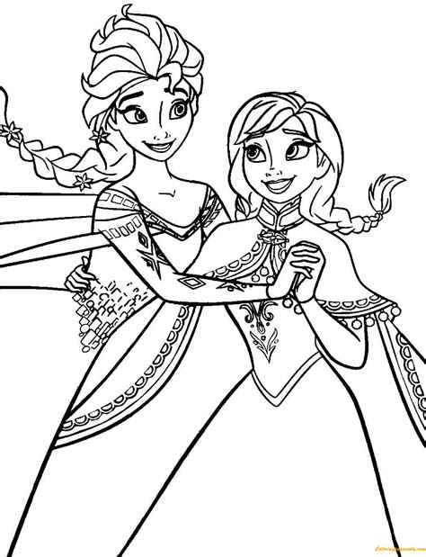 frozen coloring pages momjunction frozen anna and elsa coloring page free coloring pages