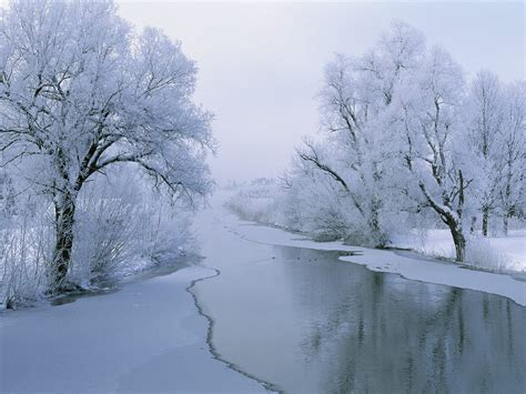 wallpaper 3d winter 1600x1200 rvier in winter desktop pc and mac wallpaper