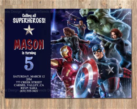 avengers birthday invitations orionjurinform com
