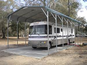 abc awnings metal rv carports and motorhome covers probuilt steel