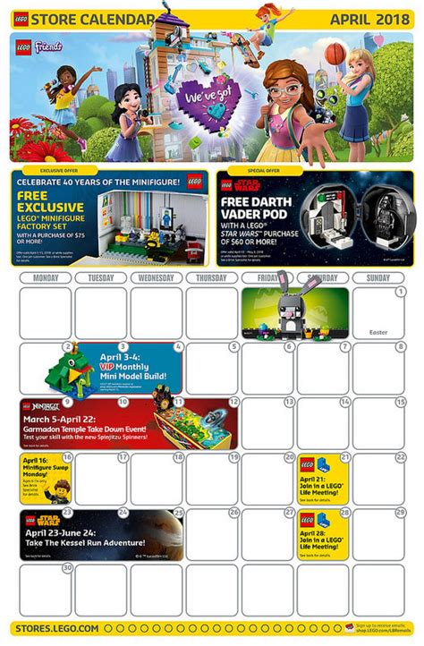 lego april 2018 store calendar promotions events the