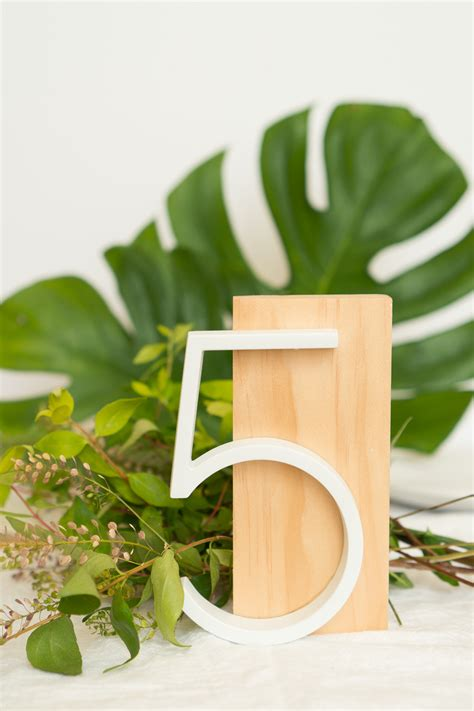 modern wedding table numbers diy modern table numbers for weddings ctrl curate