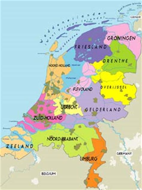 netherlands country map the netherlands