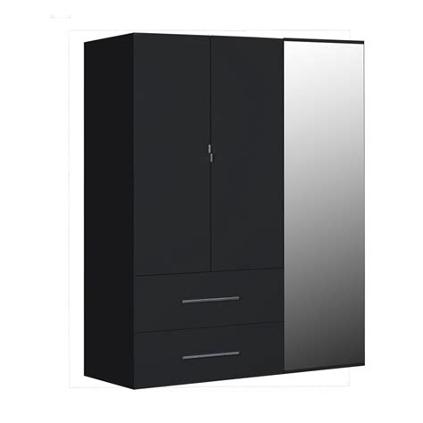 Black Gloss Mirror Wardrobe by Ii Black Gloss 3 Door Wardrobe With Mirror