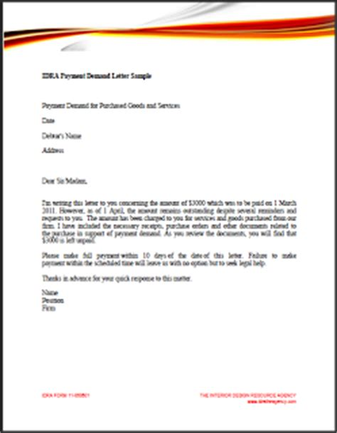 sample demand letter contract 1