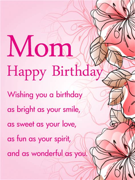 how to make wishing cards pink gorgeous flower happy birthday wishes card for