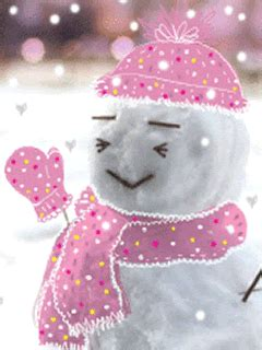 glitter graphics comment friendster pink snowman merry christmas