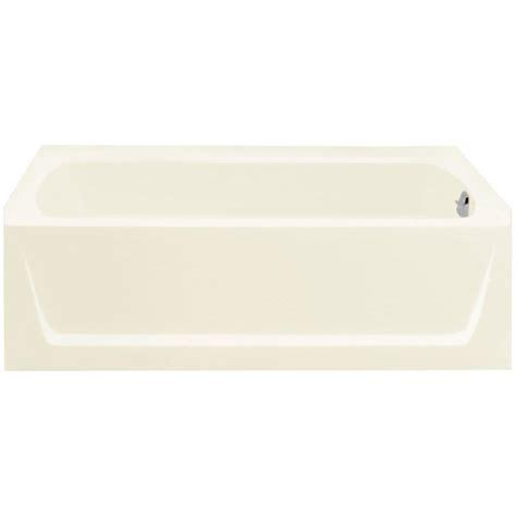 Bootzcast Comfort Back Bathtub by Bootz Industries Bootzcast 5 Ft Left Drain Soaking Tub In
