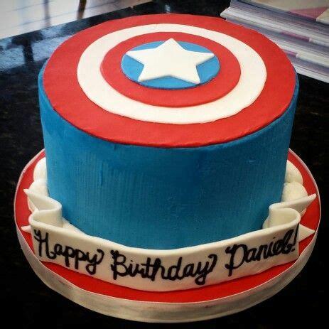 Hiasan Kue Huruf Polos captain america s shield cake using buttercream and fondant complete with white banner cake
