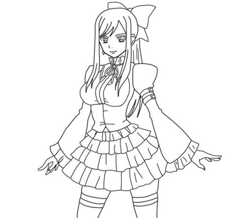 free fairytail anime coloring pages