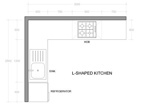different l shaped kitchen layout dimensions 3 design