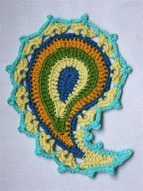 paisley pattern crochet motif paisley floral crochet pattern