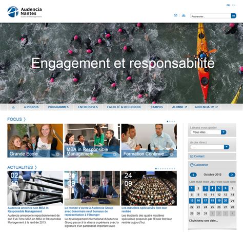 Audencia Mba by Audencia Nantes Annonce Mba In Responsible Management