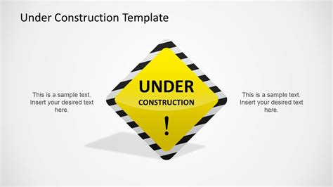 under construction powerpoint template slidemodel
