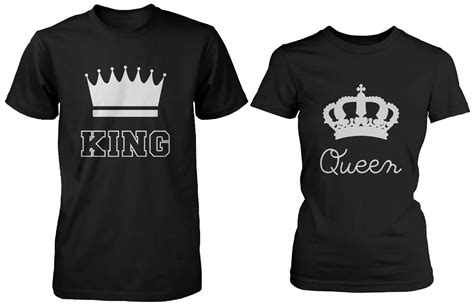 Matching Shirts For Couples Matching Shirts King And Black Cotton T