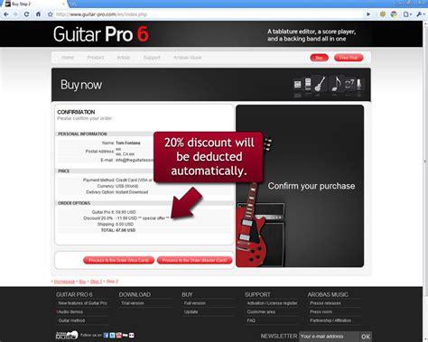 designer pro coupon guitar pro 6 discount coupon 20
