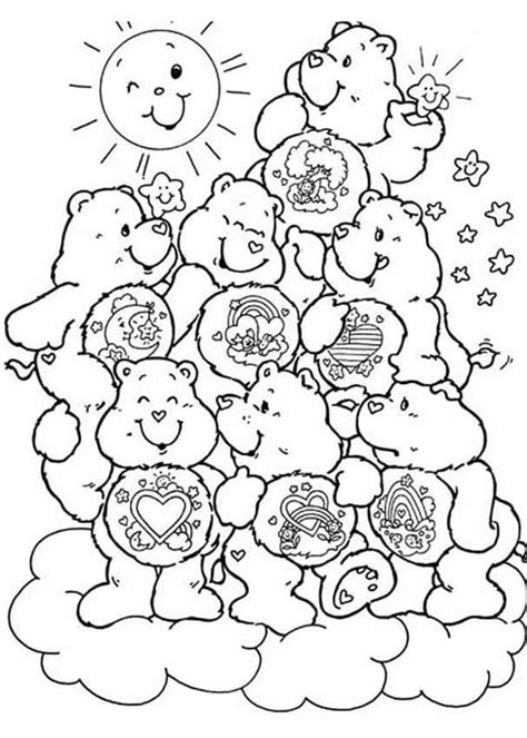 Care Bears Coloring Pages Printable Coloring Home Care Colouring Pages