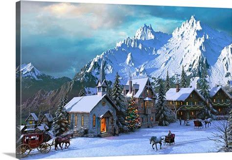 alpine christmas photo canvas print great big canvas