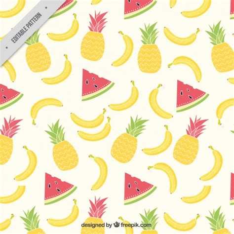 pattern tropical vector summer tropical fruits pattern vector free download