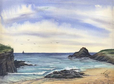 watercolor tutorial seascape watercolour tutorial painting a cornish seascape