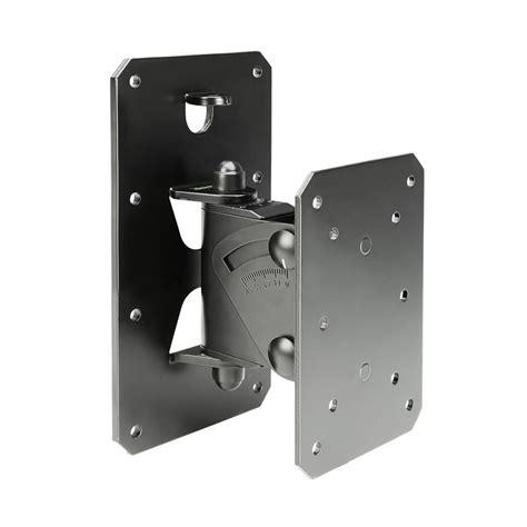 black wall mount gravity gspwmbs30b tilt and swivel speaker wall mount